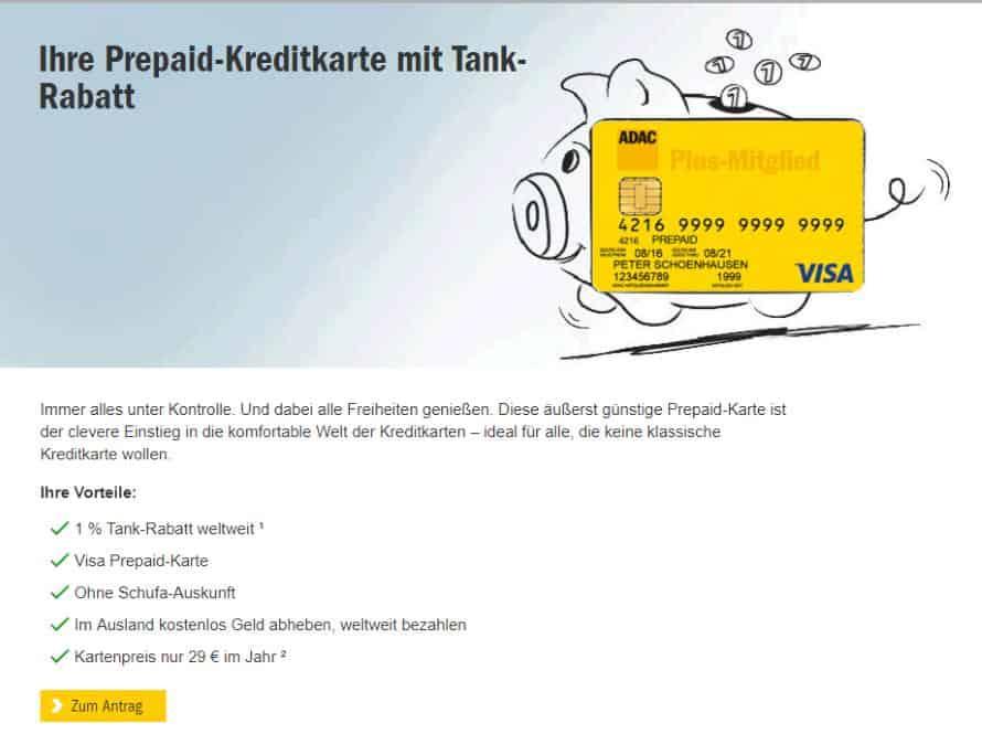 ClubmobilKarte ADAC Prepaid Kreditkarte