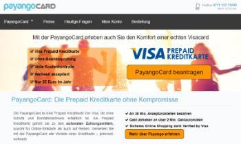 PayangoCard Prepaid Kreditkarte